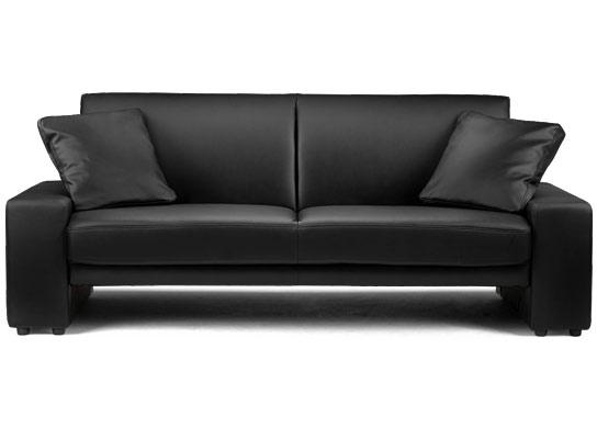 canap convertible simili cuir noir marcus. Black Bedroom Furniture Sets. Home Design Ideas