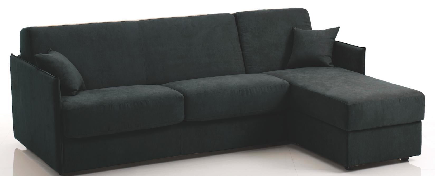 canap d 39 angle convertible rapido rev tement microfibre noir swelt mod le 2 places. Black Bedroom Furniture Sets. Home Design Ideas