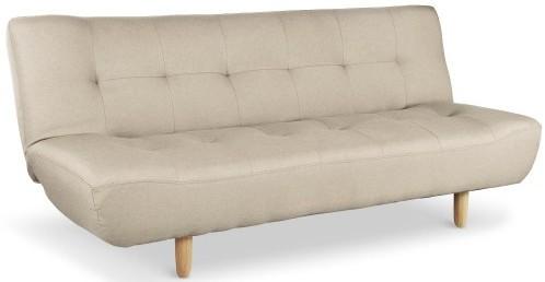 canap convertible scandinave tissu beige ursule. Black Bedroom Furniture Sets. Home Design Ideas