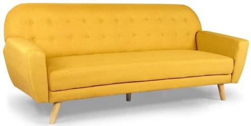 canap convertible scandinave tissu jaune elliot. Black Bedroom Furniture Sets. Home Design Ideas