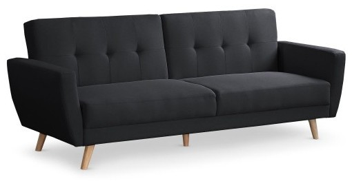 canap convertible scandinave tissu noir fresha. Black Bedroom Furniture Sets. Home Design Ideas