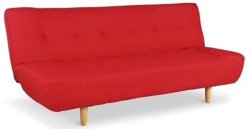 canap convertible scandinave tissu rouge ursule. Black Bedroom Furniture Sets. Home Design Ideas