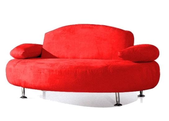 Canapé convertible Microfibre Rouge Design | LesTendances.fr