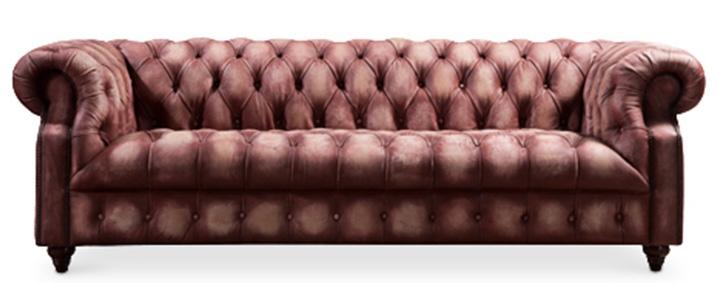 canap cuir vintage vieilli diam. Black Bedroom Furniture Sets. Home Design Ideas