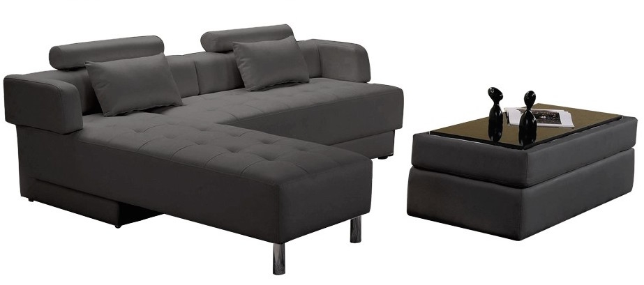 canap d 39 angle en cuir anthracite r versible et convertible largo. Black Bedroom Furniture Sets. Home Design Ideas