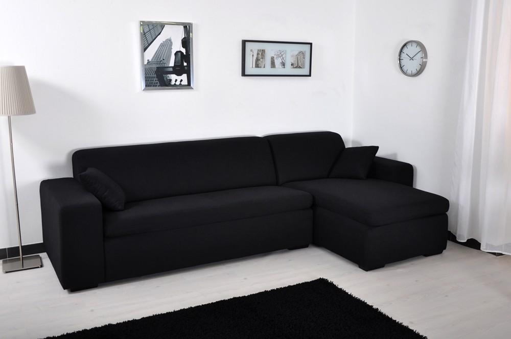 housse de canapé extensible noire Canapé d'angle microfibre Noir Maestro | LesTendances.fr housse de canapé extensible noire