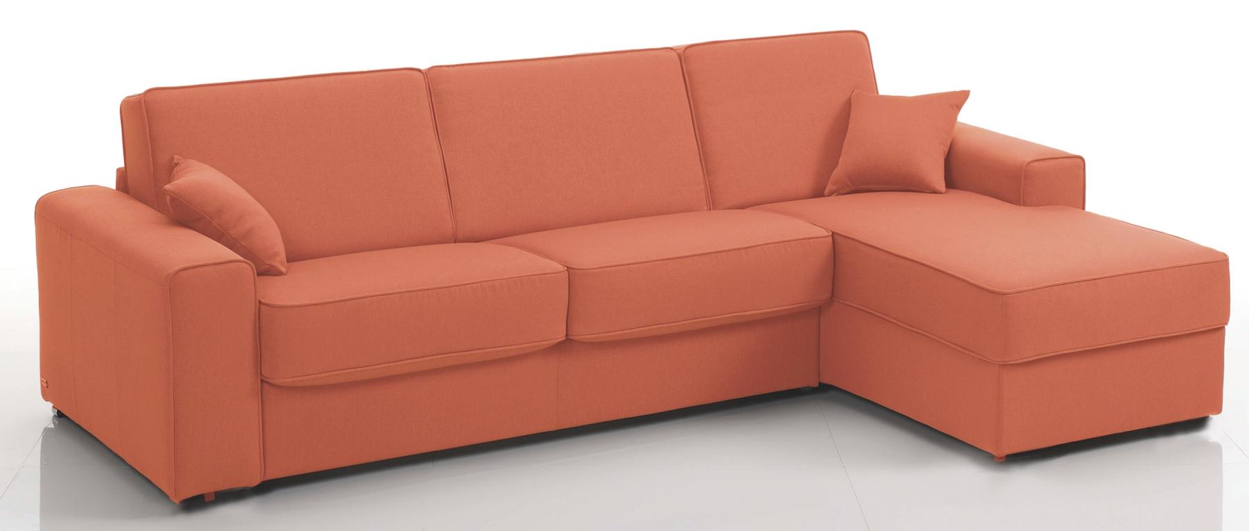 canap d 39 angle convertible rev tement microfibre orange sunrise mod le 3 places. Black Bedroom Furniture Sets. Home Design Ideas