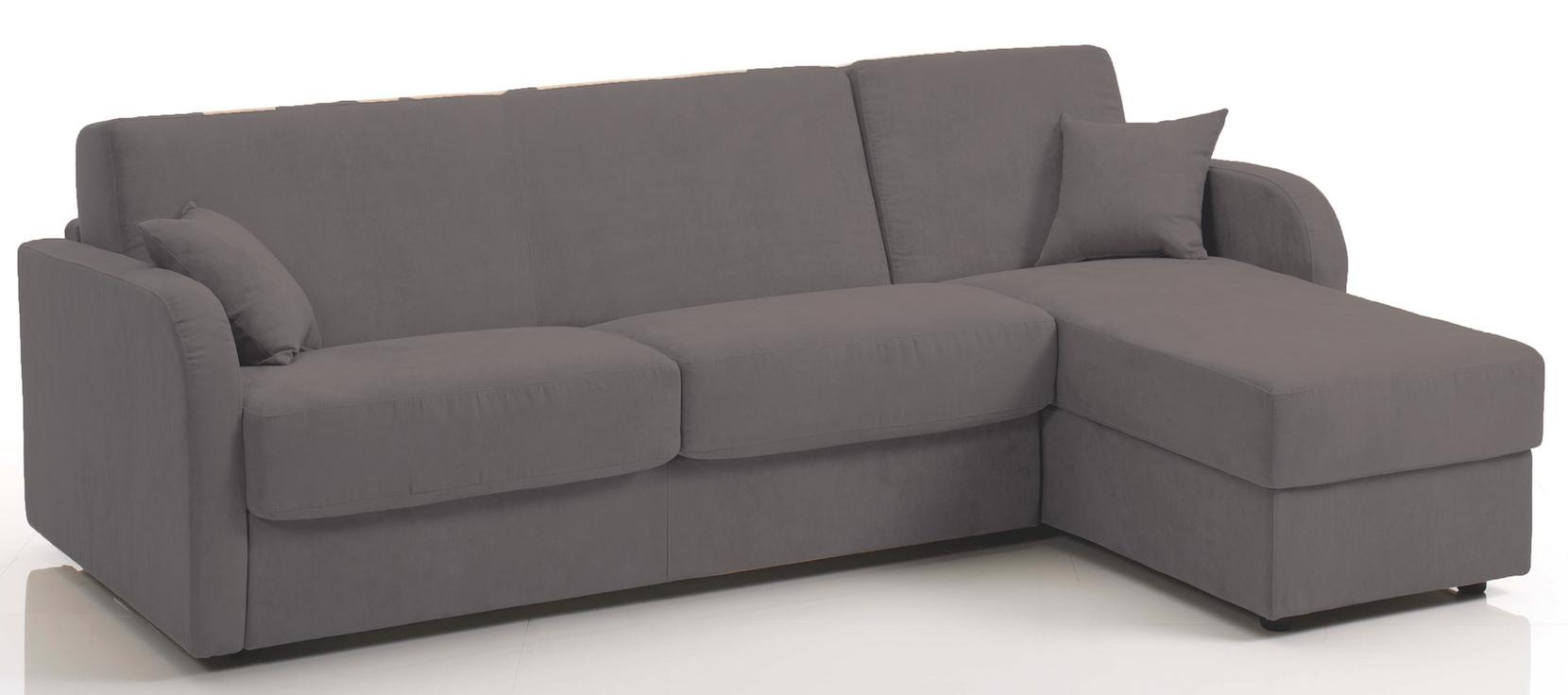 canap d 39 angle convertible rev tement microfibre gris fonc kare mod le 3 places. Black Bedroom Furniture Sets. Home Design Ideas