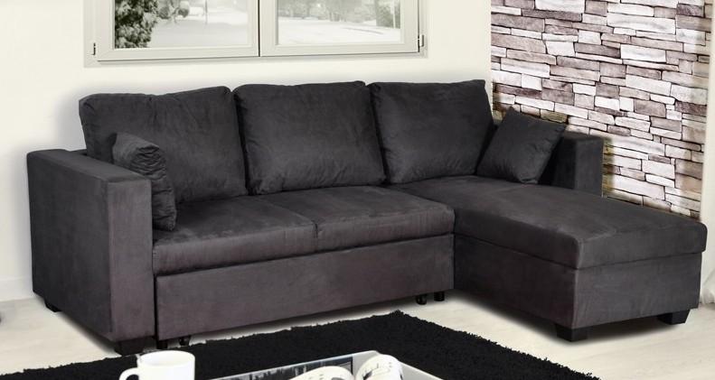canap d 39 angle r versible et convertible gris lover. Black Bedroom Furniture Sets. Home Design Ideas