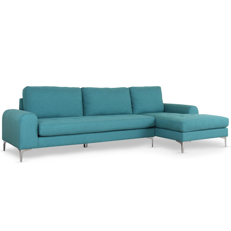 Canapé angle droit Tissu Bleu Kopal LesTendances