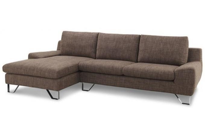 canap d 39 angle tissu marron kenty. Black Bedroom Furniture Sets. Home Design Ideas