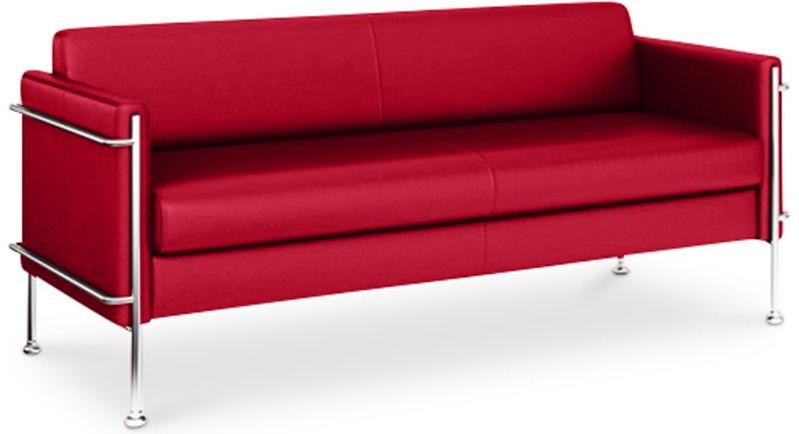 canap design 3 places simili rouge milan. Black Bedroom Furniture Sets. Home Design Ideas