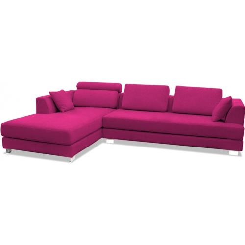 canap design angle gauche lonval tissu fuchsia. Black Bedroom Furniture Sets. Home Design Ideas