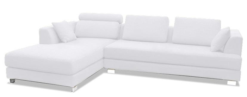 canap design angle gauche tissu lin blanc inspir boretti. Black Bedroom Furniture Sets. Home Design Ideas