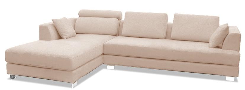 canap design angle gauche tissu lin ivoire inspir boretti. Black Bedroom Furniture Sets. Home Design Ideas