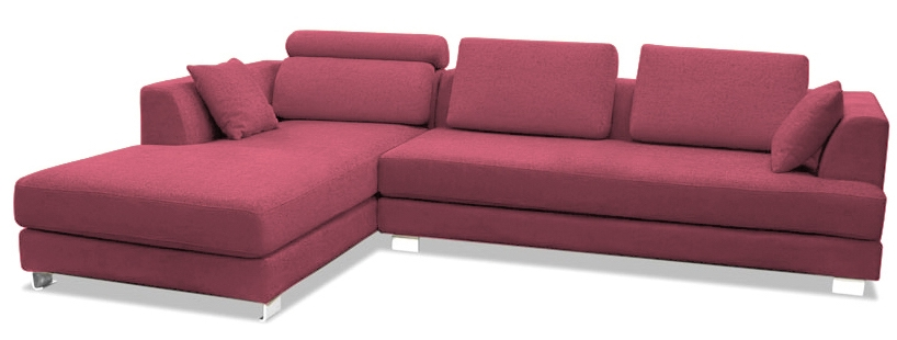 canap design angle gauche tissu lin rose inspir boretti. Black Bedroom Furniture Sets. Home Design Ideas