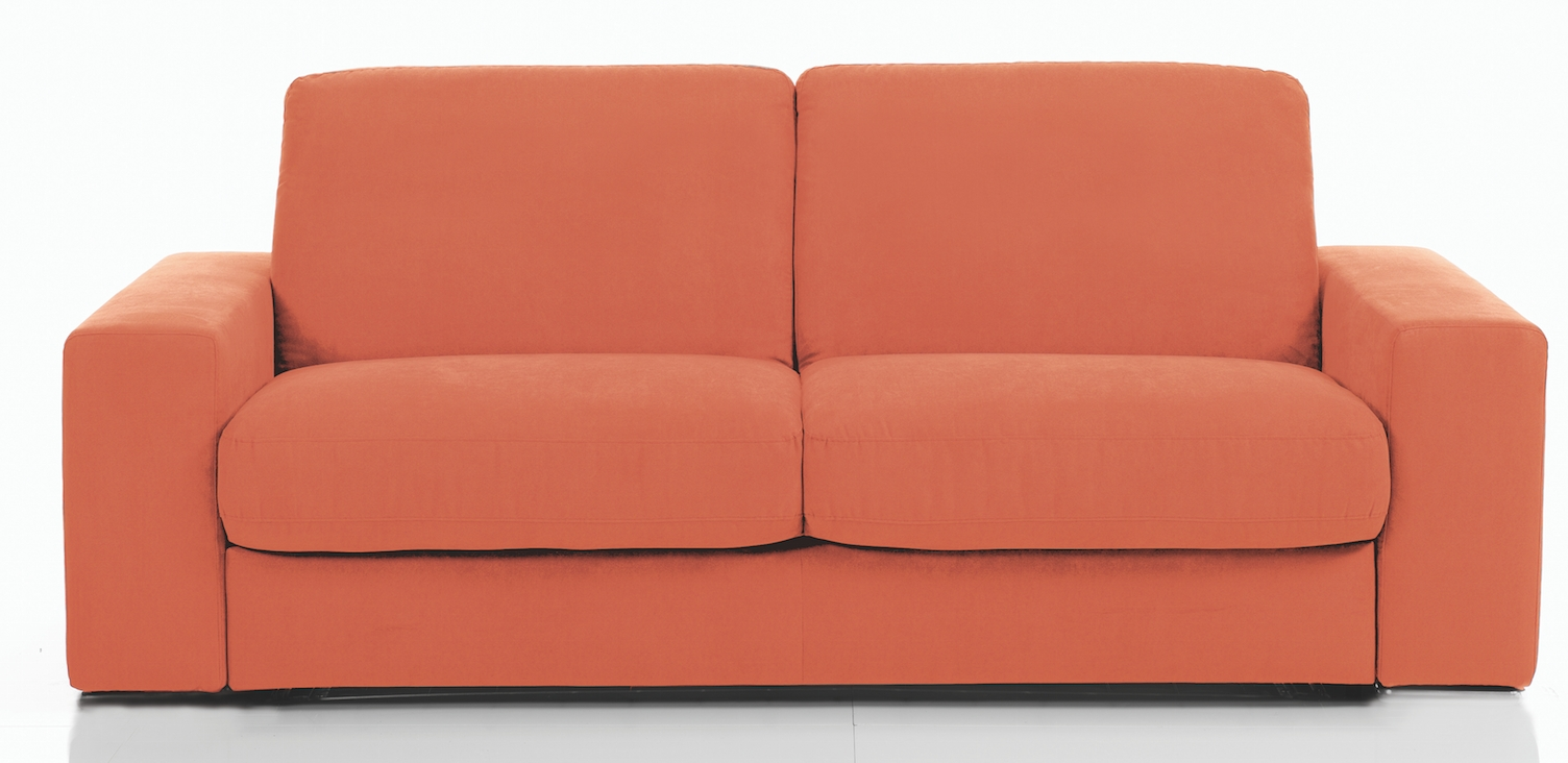canap rapido rev tement microfibre orange pliza mod le 1 place. Black Bedroom Furniture Sets. Home Design Ideas
