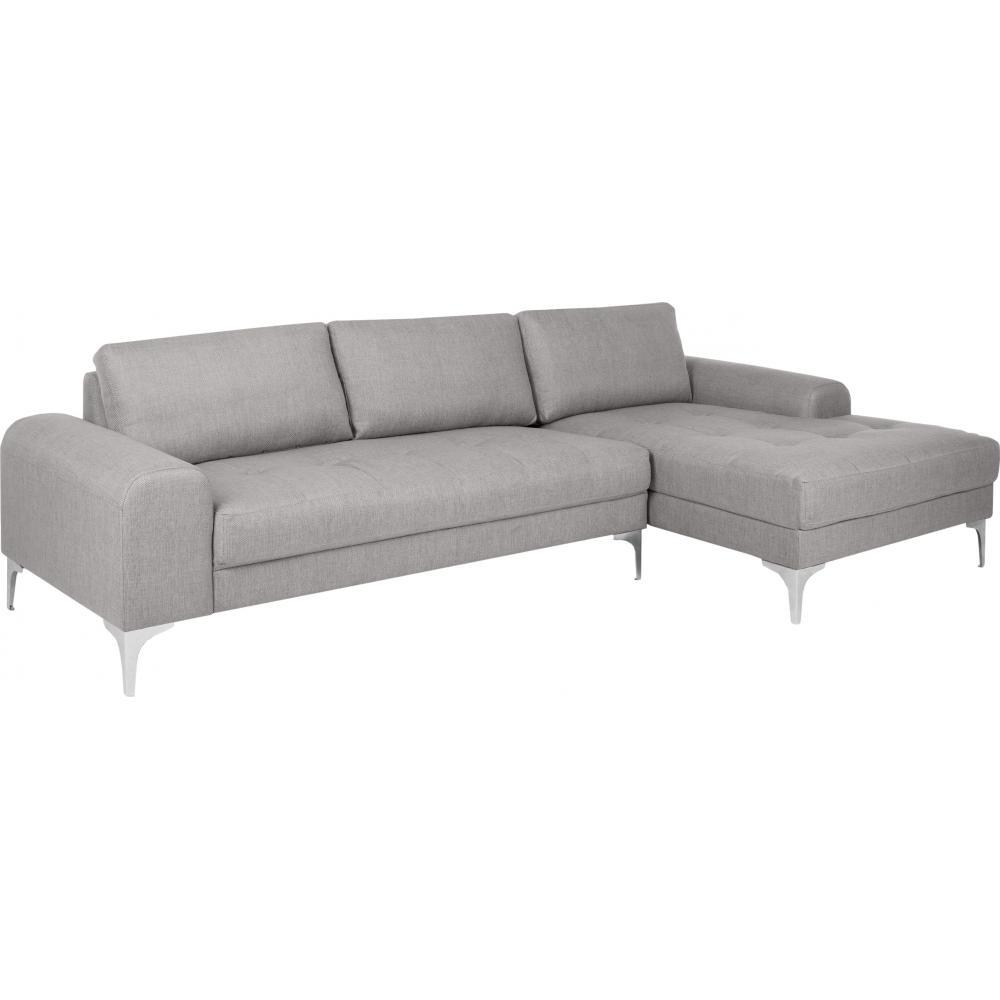 canap italien angle droit tissu lin gris clair. Black Bedroom Furniture Sets. Home Design Ideas