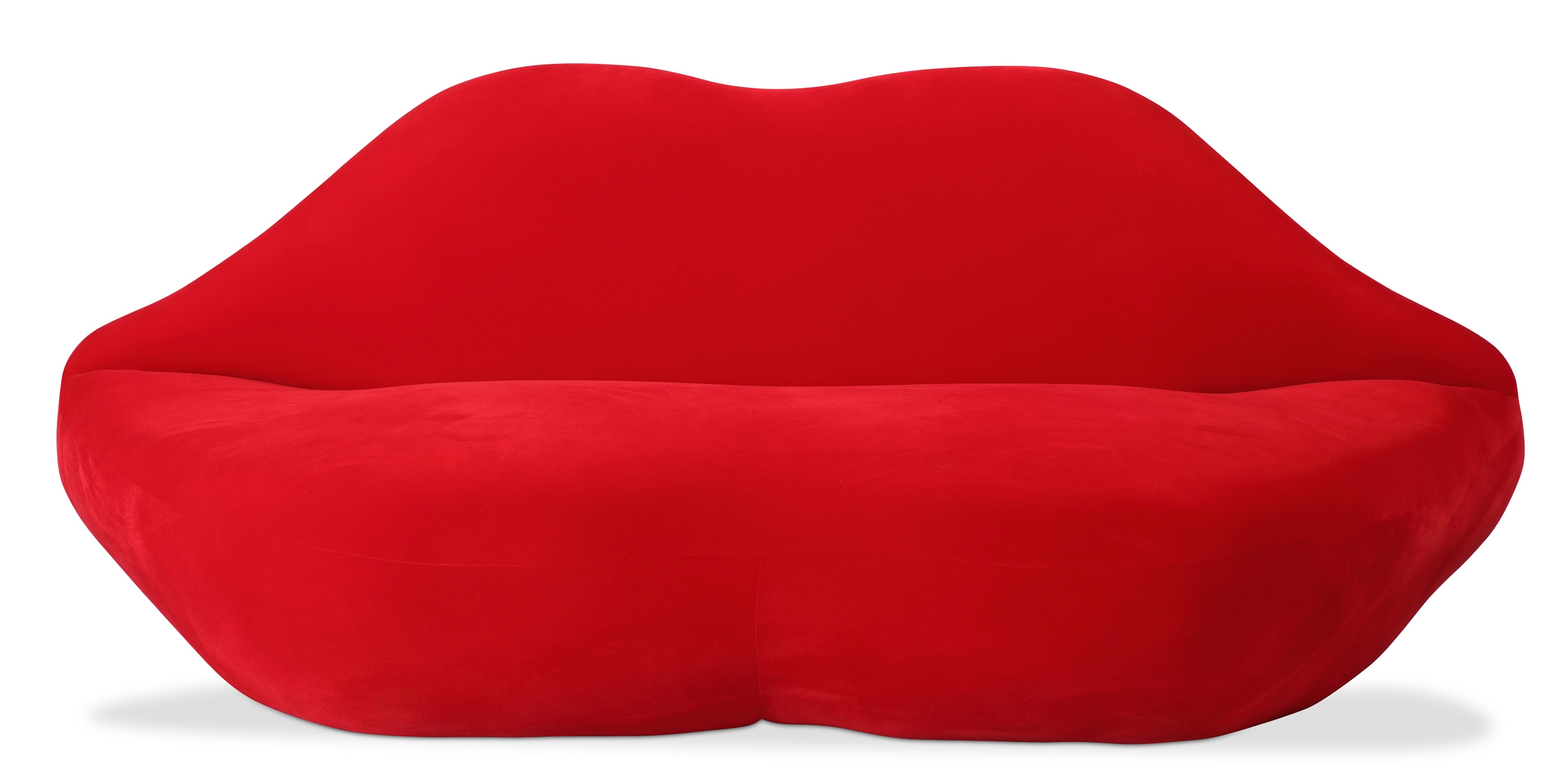 Canape l vre tissu rouge inspir salvador dali - Canape rouge but ...