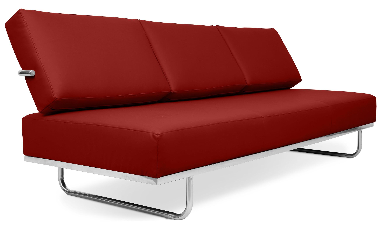 canap lit 3 places cuir cognac carter. Black Bedroom Furniture Sets. Home Design Ideas