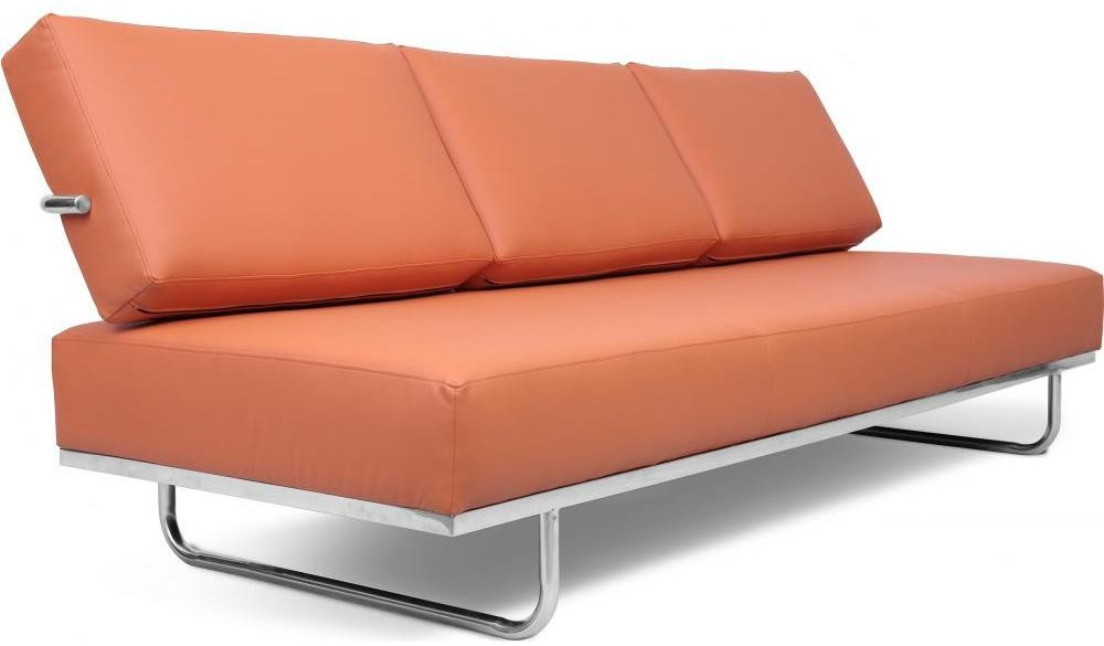 canap lit 3 places simili marron clair carter. Black Bedroom Furniture Sets. Home Design Ideas