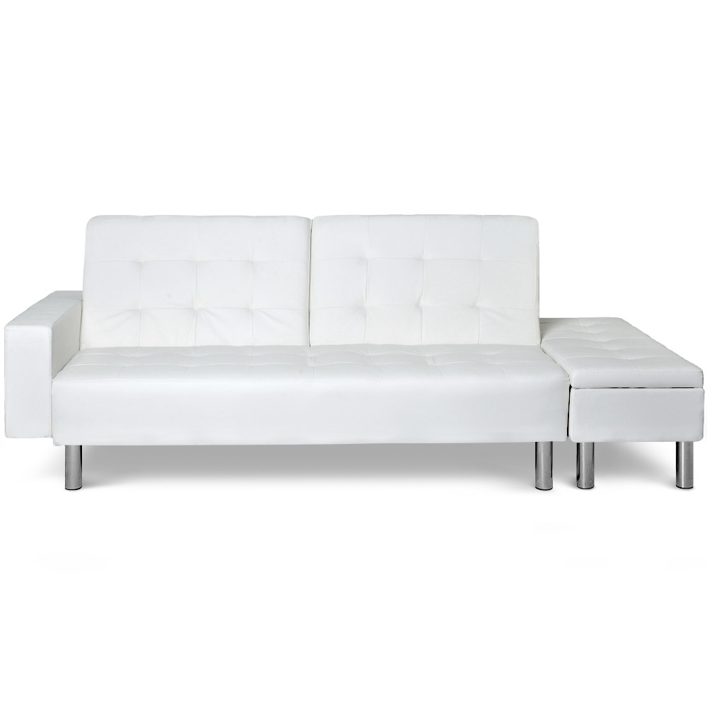 canap lit avec banquette coffre zeal couleur blanc. Black Bedroom Furniture Sets. Home Design Ideas