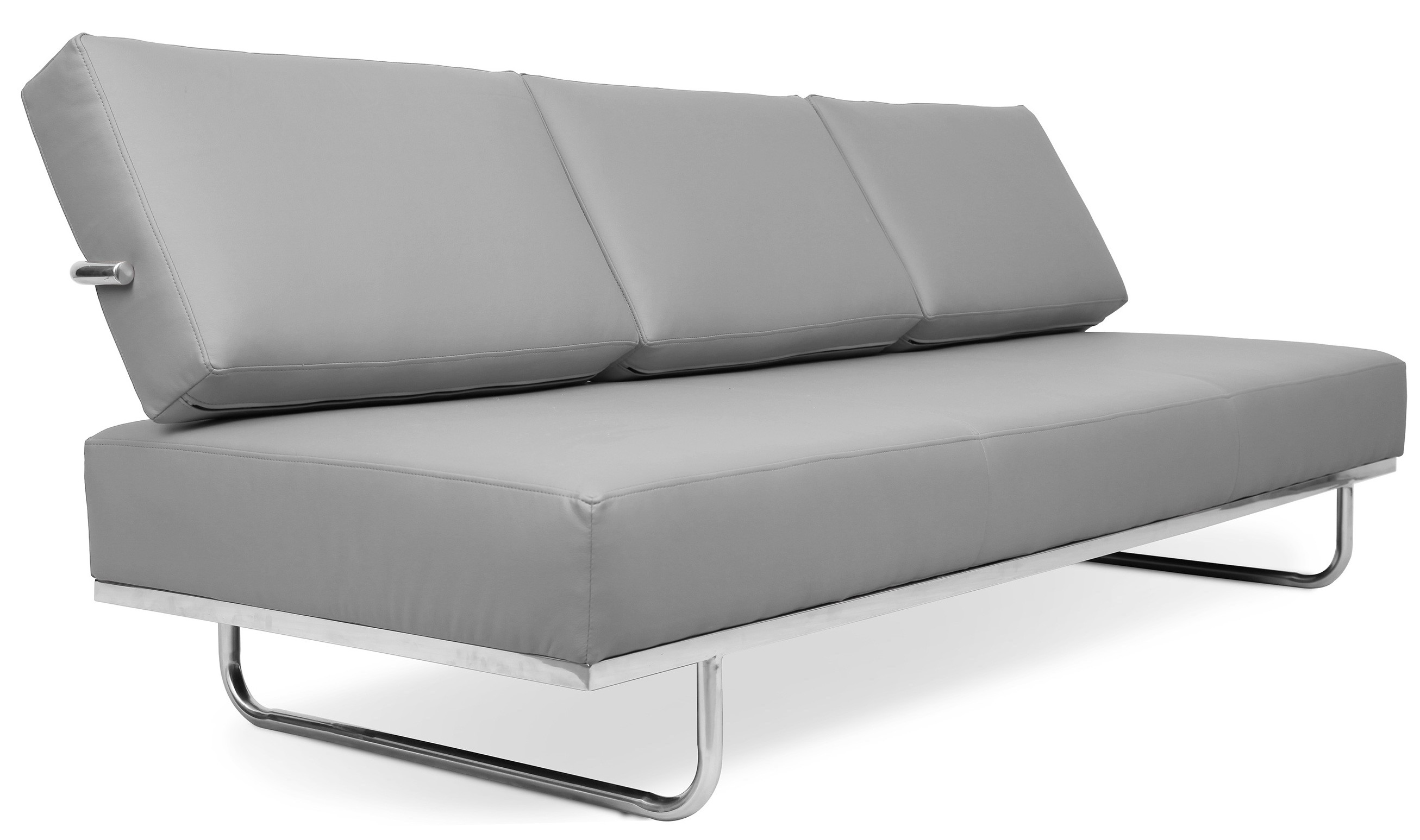 canap lit 3 places cuir gris carter. Black Bedroom Furniture Sets. Home Design Ideas