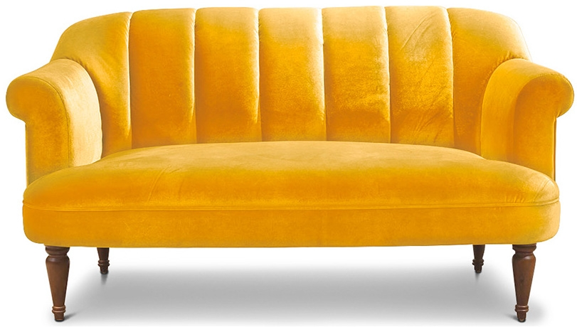 Canap louis xv velours jaune for Canape louis 15