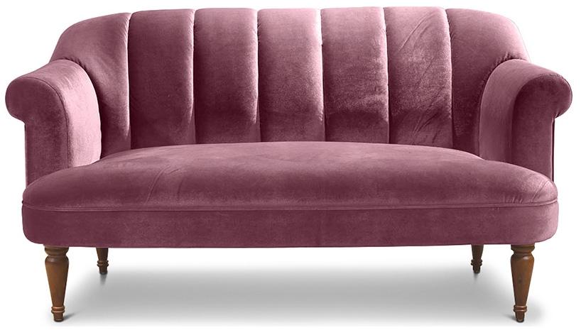 canap vintage 3 places velours mauve louis xv. Black Bedroom Furniture Sets. Home Design Ideas