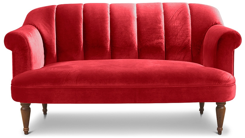 Canap louis xv velours rouge for Canape louis 15