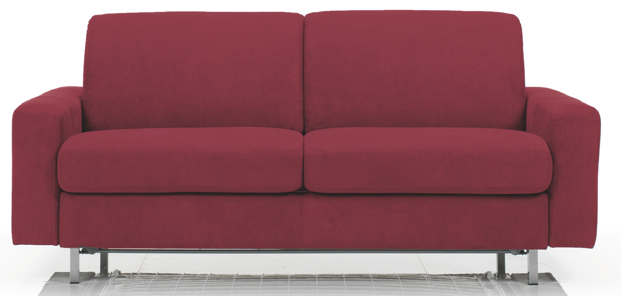 Canap convertible rev tement microfibre bordeaux katus - Canape convertible bordeaux ...
