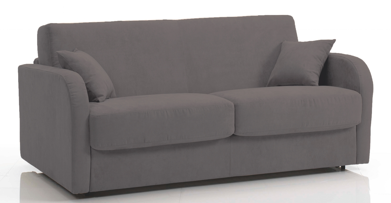 canap rapido rev tement microfibre gris fonc kare mod le 1 place. Black Bedroom Furniture Sets. Home Design Ideas