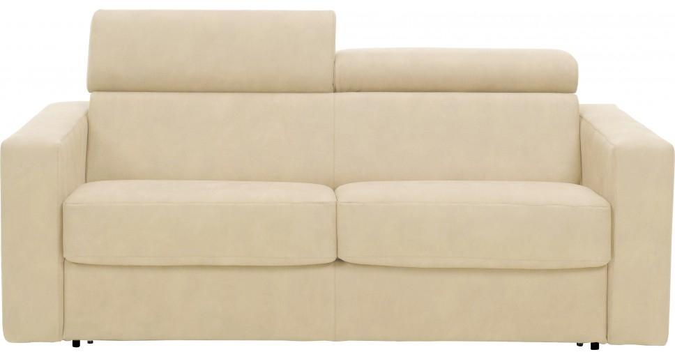 canap fixe avec t ti res rev tement microfibre ecru lova mod le fauteuil. Black Bedroom Furniture Sets. Home Design Ideas