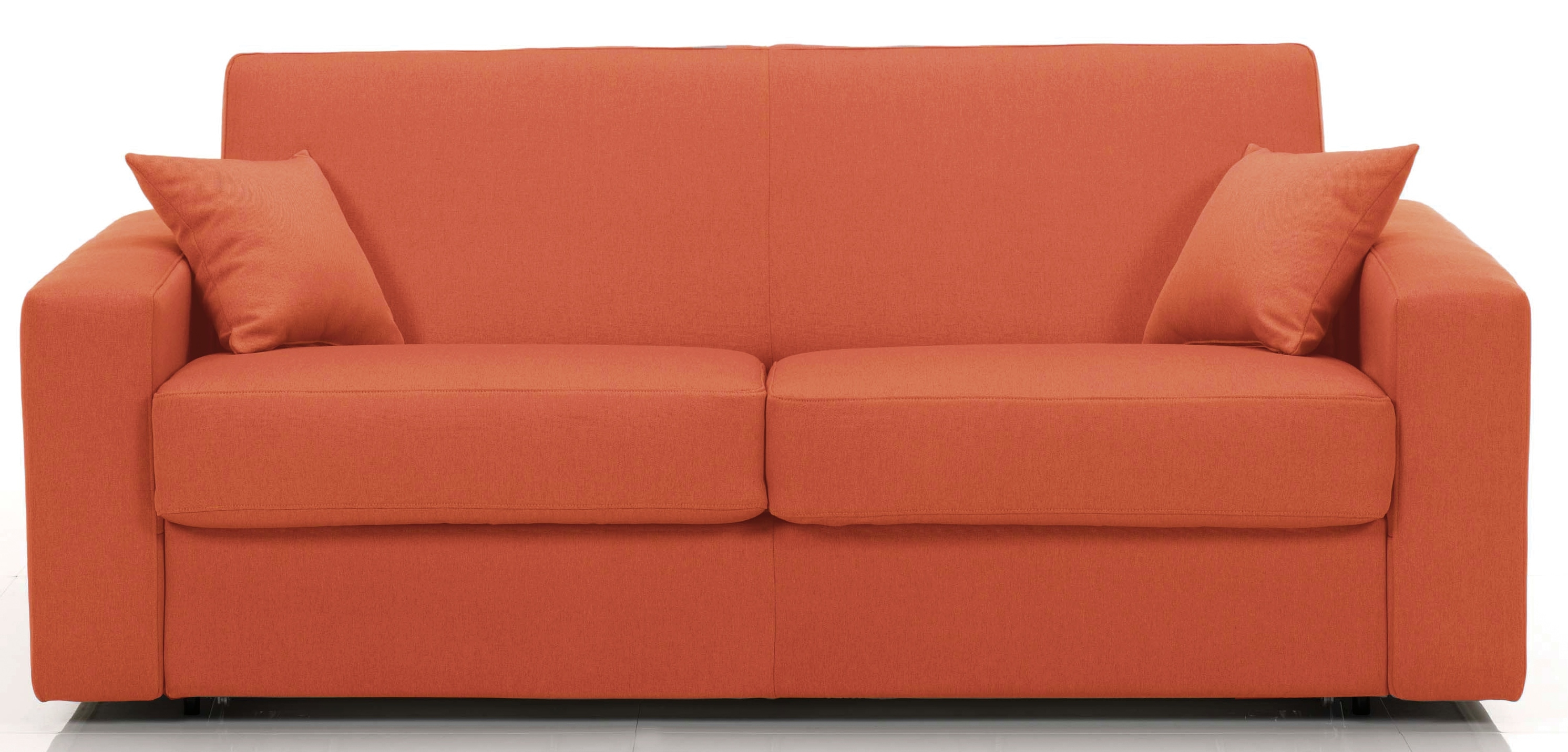 canap fixe rev tement microfibre orange sophia mod le 2 places. Black Bedroom Furniture Sets. Home Design Ideas
