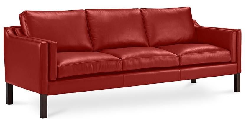 canap 3 places moderne cuir cognac lower. Black Bedroom Furniture Sets. Home Design Ideas