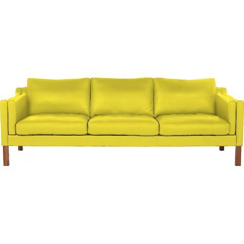 canap moderne 3 places simili jaune lower. Black Bedroom Furniture Sets. Home Design Ideas