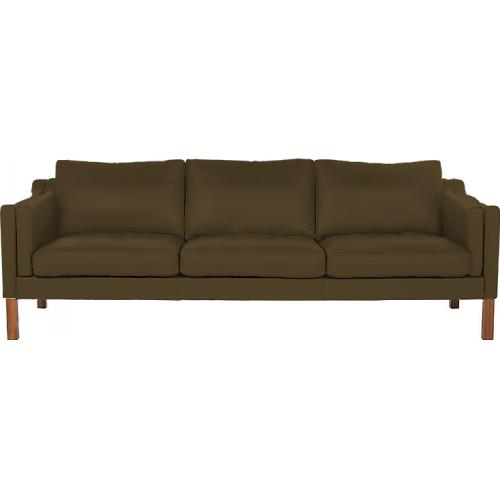 Canap moderne 3 places simili marron lower - Canape simili cuir marron ...