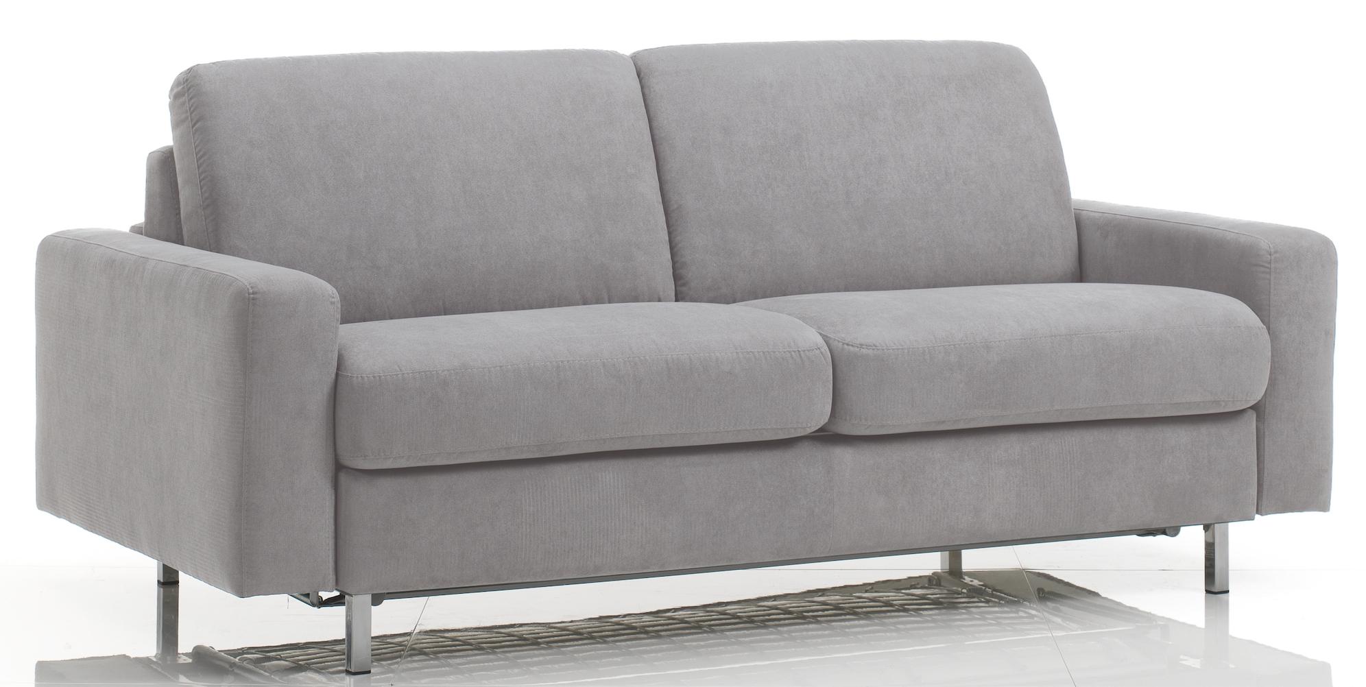 canap convertible rev tement tissu gris clair katus mod le 2 places. Black Bedroom Furniture Sets. Home Design Ideas