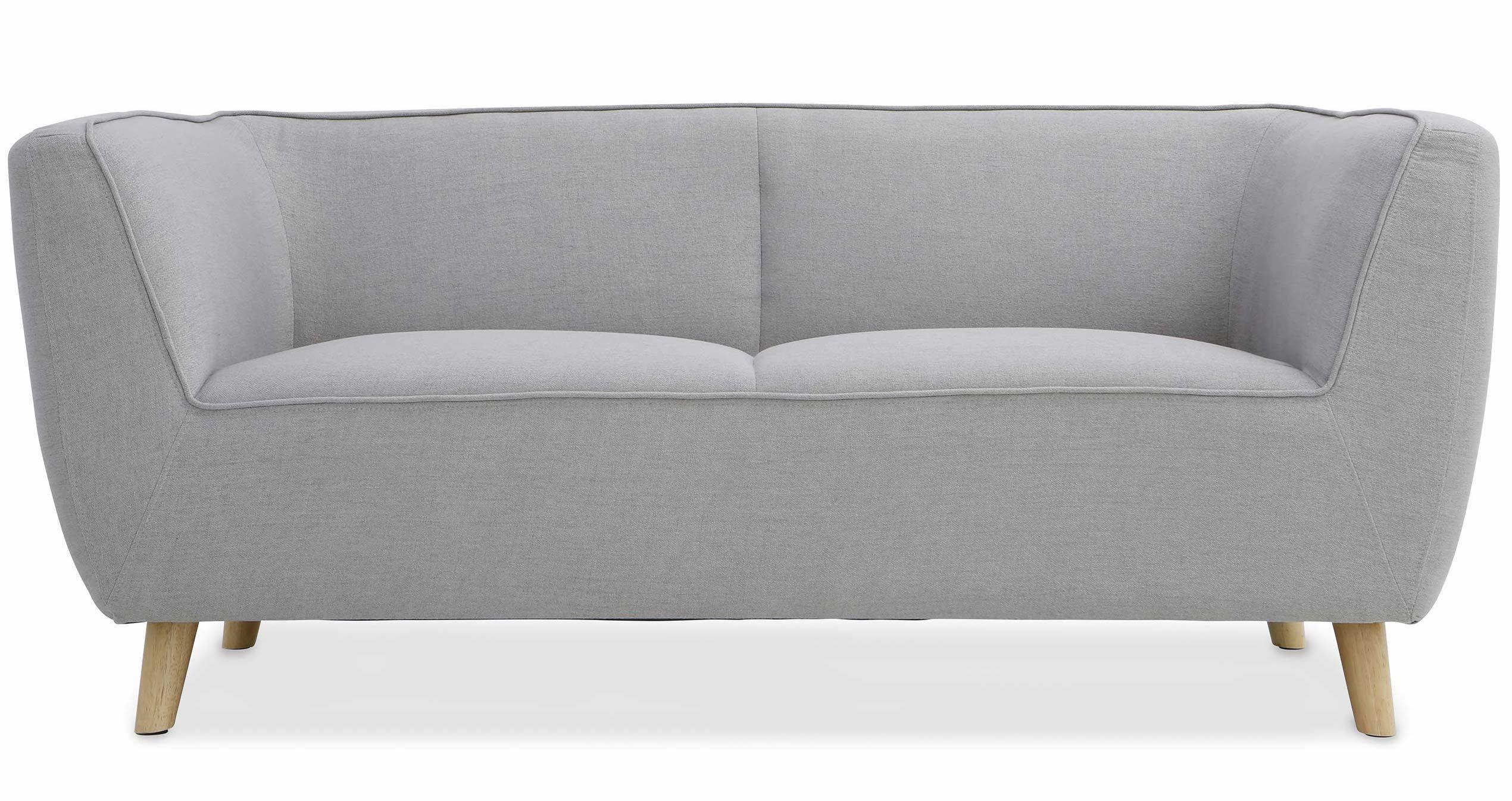 canap scandinave 3 places tissu gris clair divan. Black Bedroom Furniture Sets. Home Design Ideas