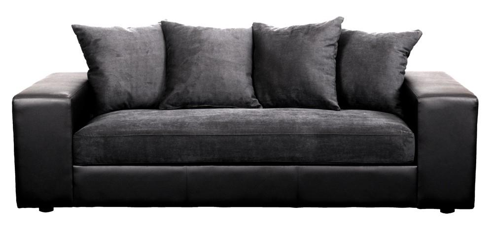 Housse canape simili cuir maison design - Housse canape noir ...