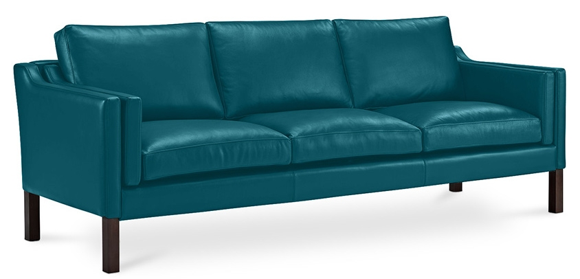 canap simili turquoise 3 places lower. Black Bedroom Furniture Sets. Home Design Ideas