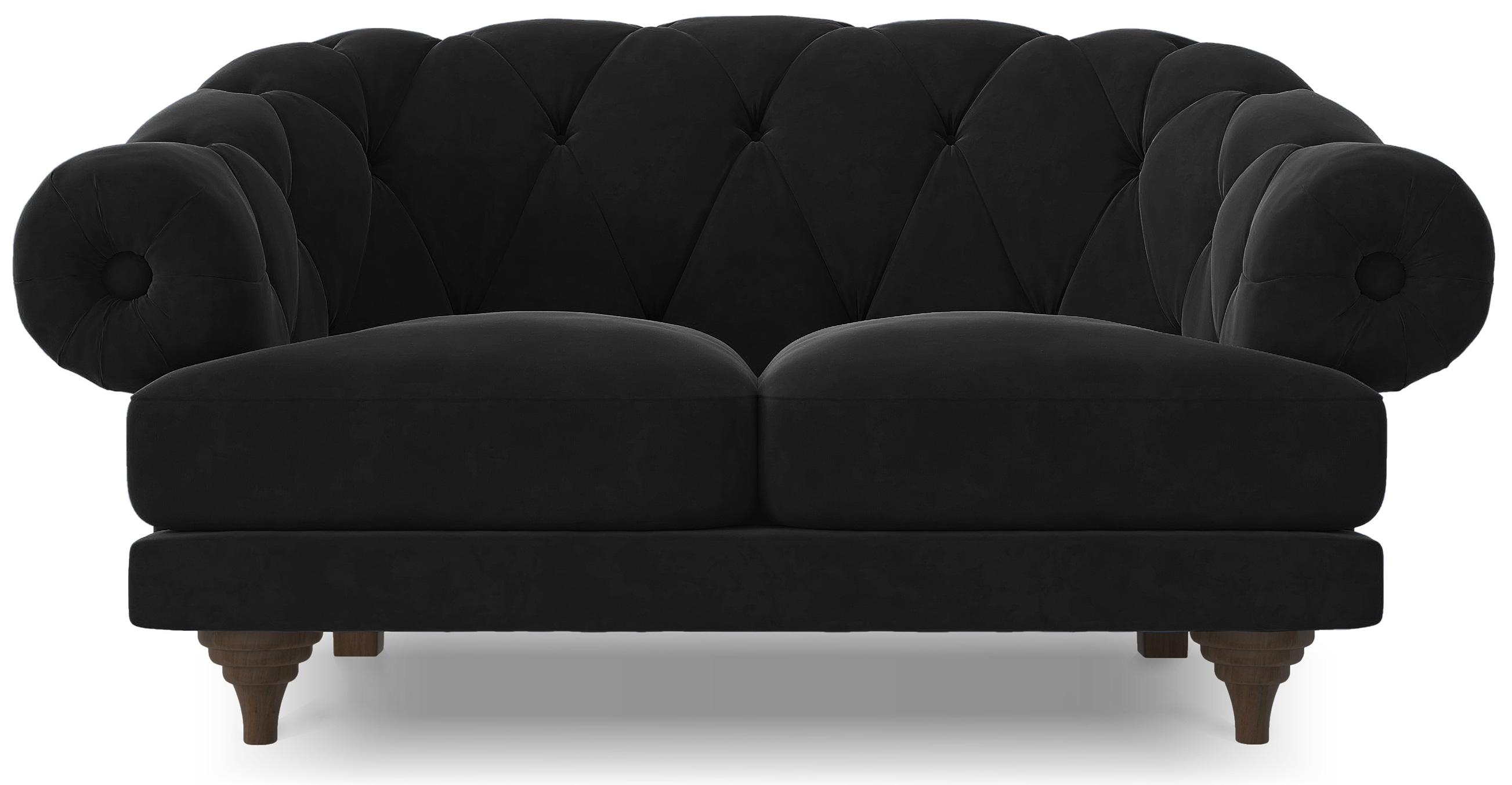 canap ultra confortable velours noir chesterfield. Black Bedroom Furniture Sets. Home Design Ideas