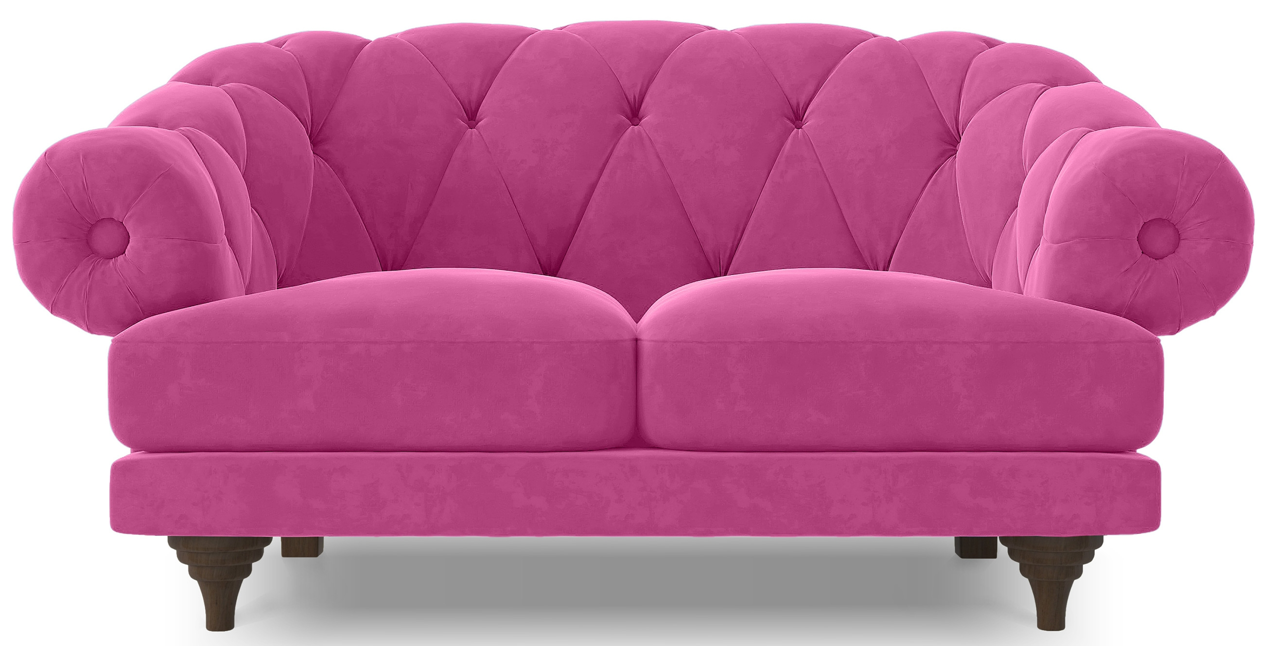 Canap ultra confortable velours rose chesterfield for Canape ultra confortable