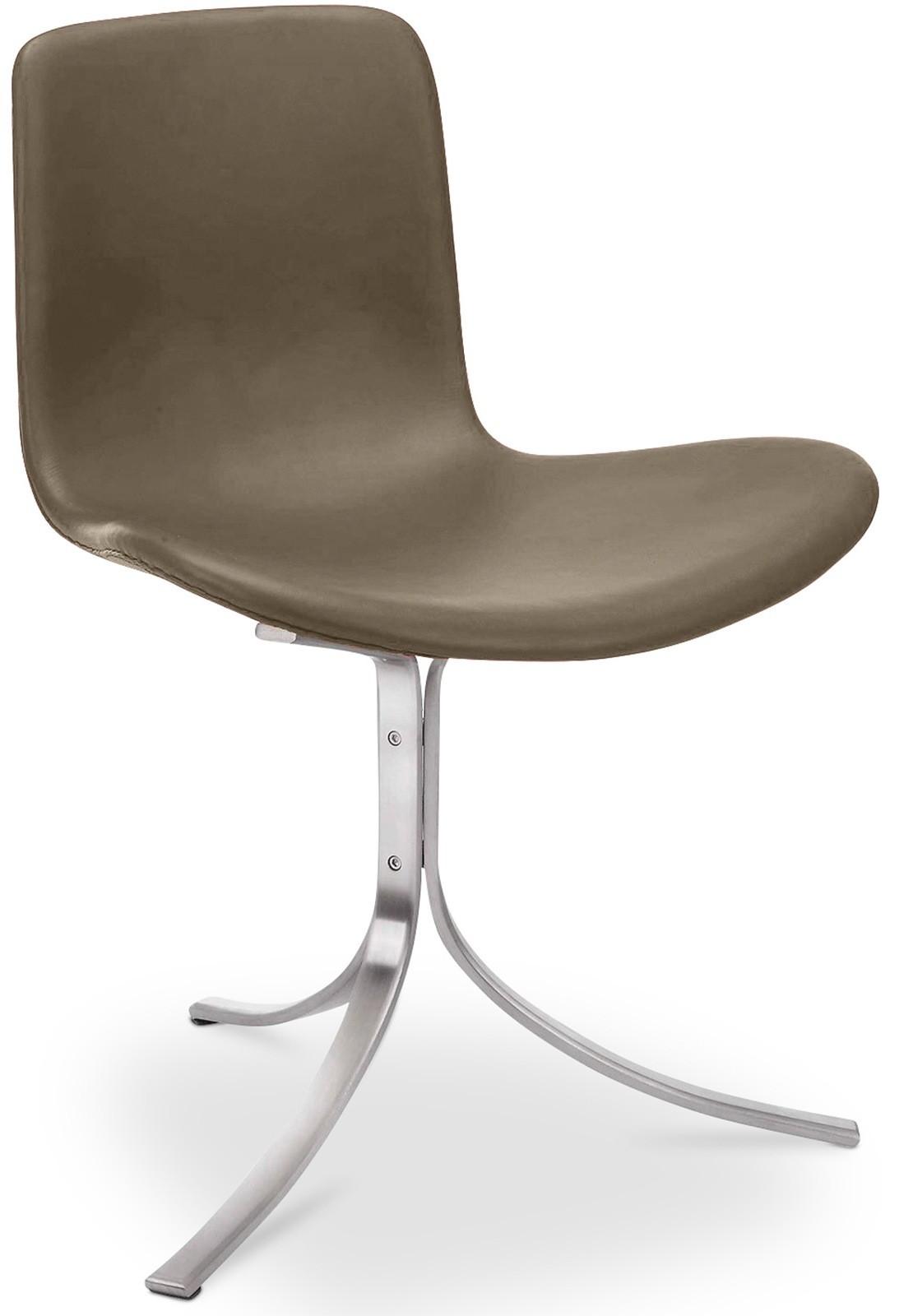 chaise acier et cuir taupe inspir py9. Black Bedroom Furniture Sets. Home Design Ideas