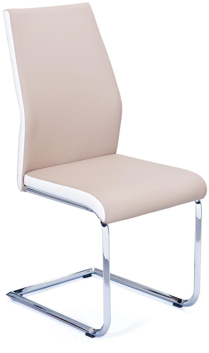 chaise beige et blanche lalia lot de 4. Black Bedroom Furniture Sets. Home Design Ideas