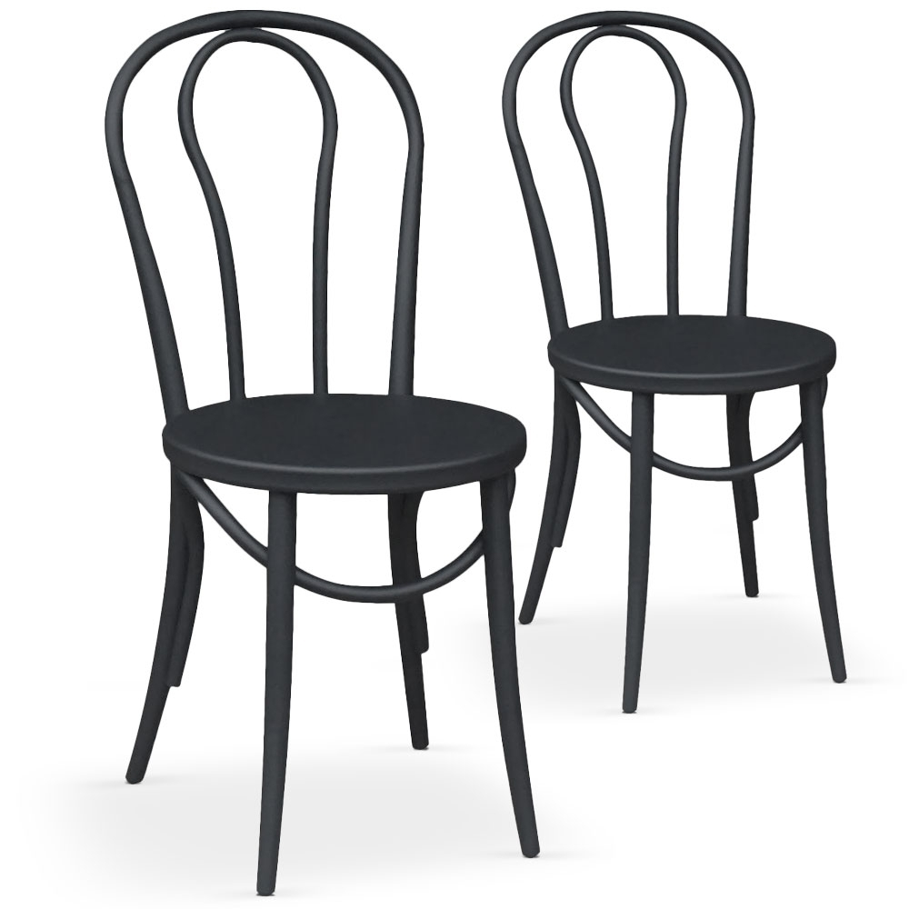 chaises bistrot noir coste. Black Bedroom Furniture Sets. Home Design Ideas