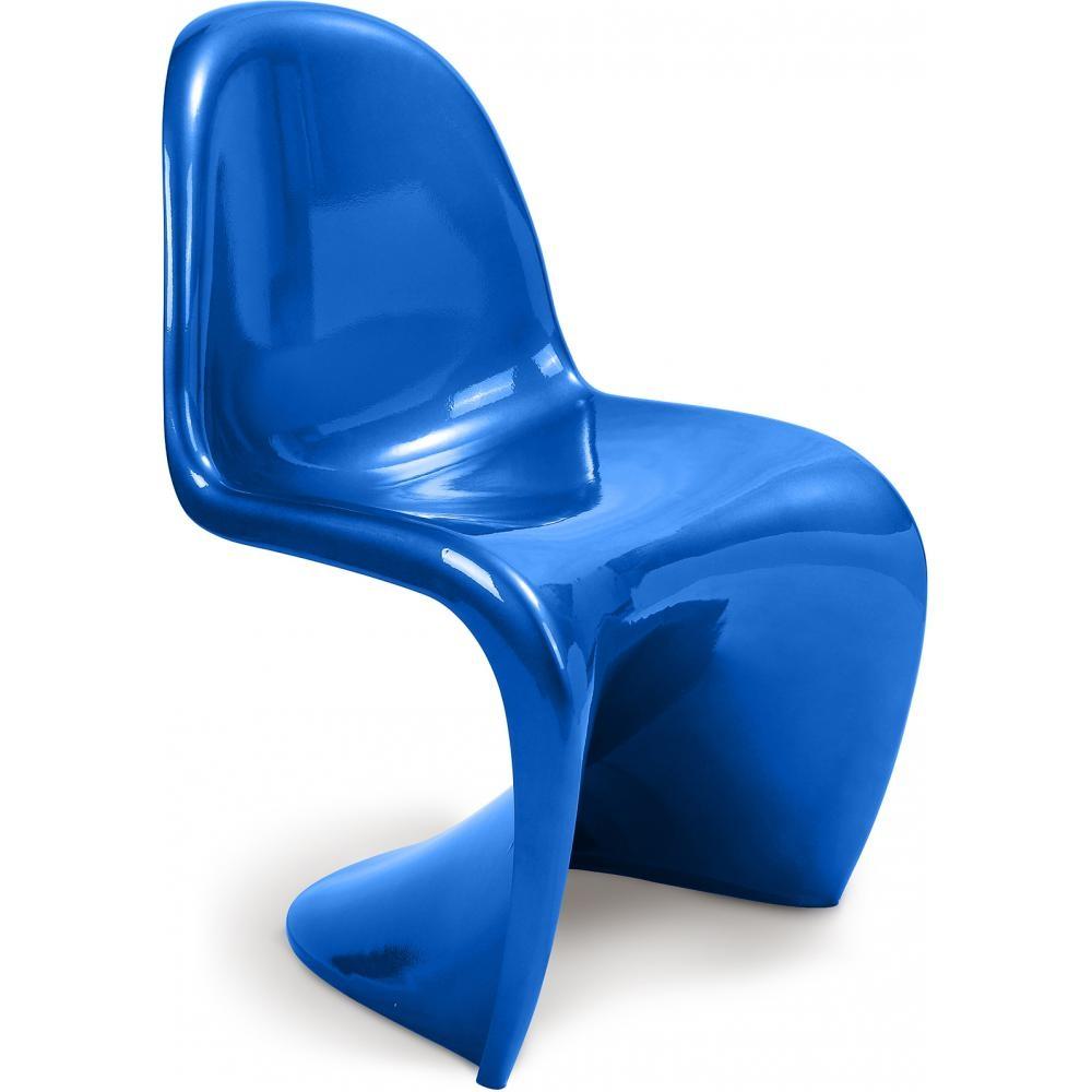 chaise bleu m tallique kidzy. Black Bedroom Furniture Sets. Home Design Ideas
