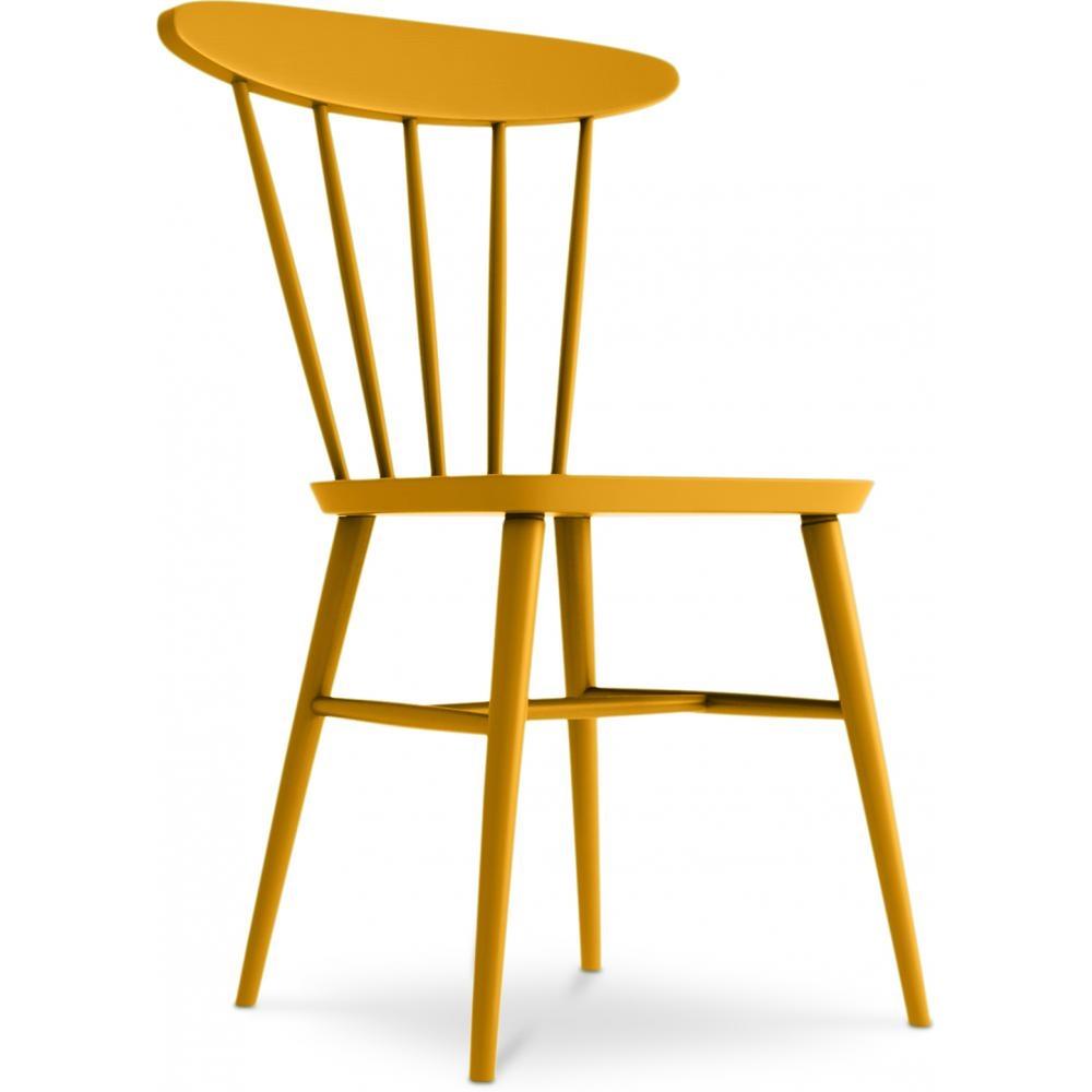 chaise bois de bouleau jaune hino | lestendances.fr