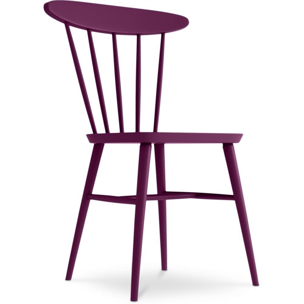 chaise bois de bouleau parme hino. Black Bedroom Furniture Sets. Home Design Ideas