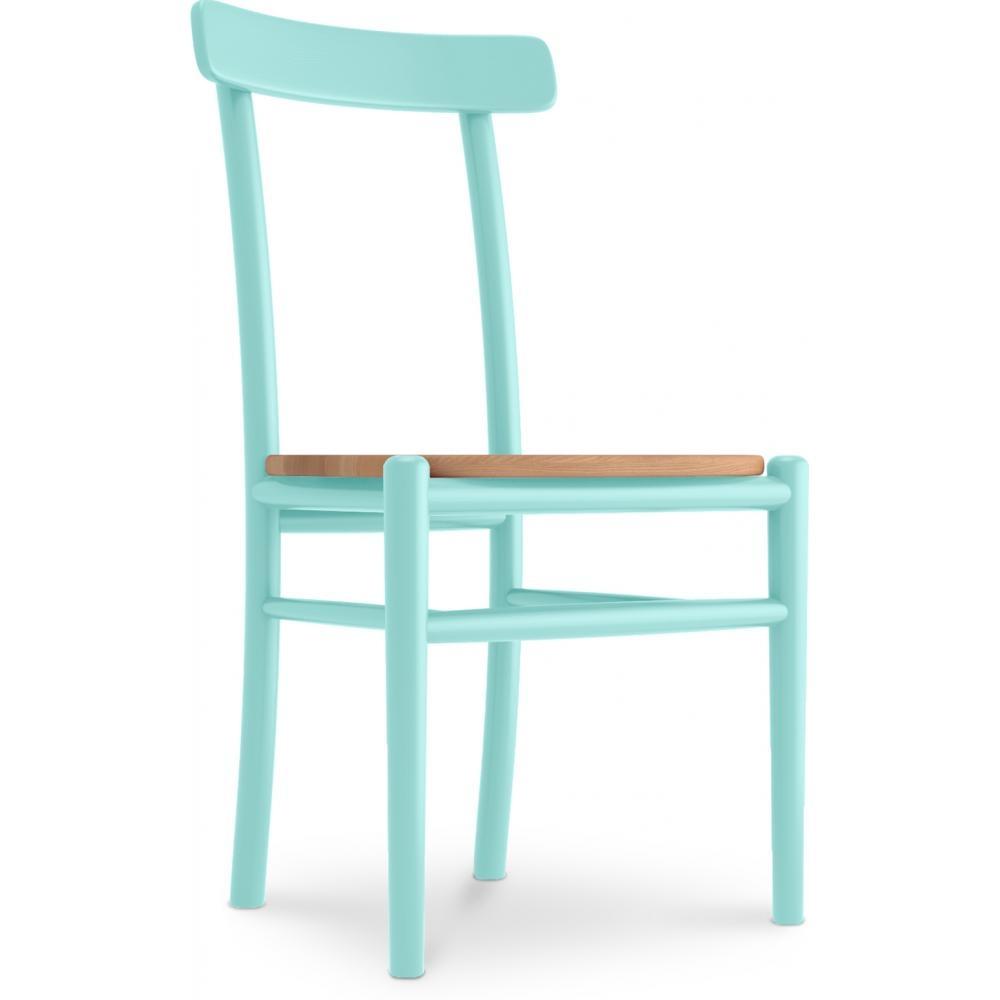 chaise bois de bouleau turquoise kevin. Black Bedroom Furniture Sets. Home Design Ideas